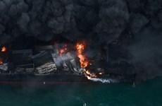 [Video] Cận cảnh tàu container cháy suốt 12 ngày ngoài khơi Sri Lanka
