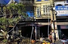 Quảng Ninh: Ngôi nhà 4 tầng bốc cháy khiến một phụ nữ tử vong