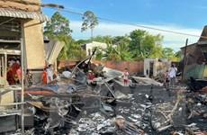 An Giang: Hỏa hoạn thiêu rụi 4 căn nhà, thiệt hại hàng trăm triệu đồng