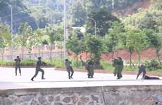 Diễn tập khu vực phòng thủ và phòng, chống khủng bố tại Sơn La