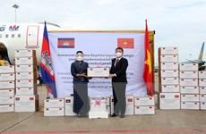 [Photo] Campuchia hỗ trợ Việt Nam chống đại dịch COVID-19