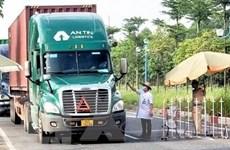 Ninh Bình kết nối 'luồng xanh' vận tải quốc gia phòng chống COVID-19