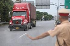 Dịch COVID-19: Hải Phòng phân luồng xe vào thành phố đoạn Quốc lộ 5