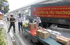 [Photo] Hà Nội: Chuyến xe chở yêu thương đến với người dân khu cách ly