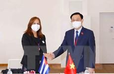 Chủ tịch Quốc hội Vương Đình Huệ tiếp Phó Chủ tịch Quốc hội Cuba