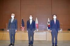 Đàm phám 3 bên giữa Mỹ, Nhật, Hàn về vấn đề hạt nhân Triều Tiên