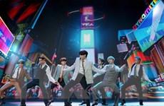 Nhóm nhạc đình đám BTS biểu diễn trên sân khấu trực tiếp tại Mỹ