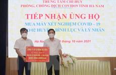 15 doanh nghiệp hỗ trợ tỉnh Hà Nam mua máy xét nghiệm COVID-19