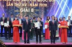 Lời cảm ơn của Hội đồng Giải Báo chí Quốc gia và Hội nhà báo Việt Nam