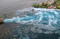 Hà Nội xử lý 16 doanh nghiệp gây ô nhiễm sông Cầu Bây