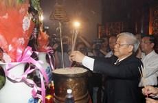 Tổng Bí thư Nguyễn Phú Trọng làm việc tại tỉnh Phú Thọ