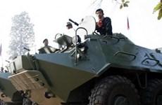 Quân đội Campuchia tiến hành cuộc diễn tập bắn đạn thật
