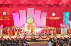 Chủ tịch Ủy ban MTTQ tiếp Đoàn Liên minh Giáo hội Phật giáo Lào