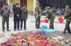Bộ đội Biên phòng tỉnh Thái Bình thu giữ gần 2 tấn pháo lậu