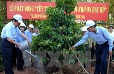 Trồng hơn 13.000 cây xanh tại khu mộ Đại tướng Võ Nguyên Giáp