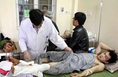 Vụ sập giàn giáo: Nhiều bệnh nhân nặng phải chuyển tuyến trên