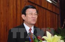 Chủ tịch nước đến thăm và làm việc tại Học viện Quốc phòng