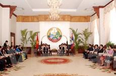 Lãnh đạo Lào tiếp đoàn đại biểu cấp cao Thành phố Hồ Chí Minh