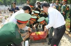 Quảng Bình truy điệu, an táng hài cốt liệt sỹ hy sinh tại Lào