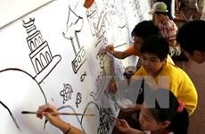 """Thi vẽ tranh quốc tế """"Em yêu Hà Nội - Thành phố hòa bình"""""""