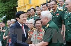 Chủ tịch nước Trương Tấn Sang gặp mặt tri ân cựu chiến binh
