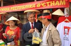 Đồ mỹ nghệ, càphê Việt dự Hội chợ truyền thống của Ukraine