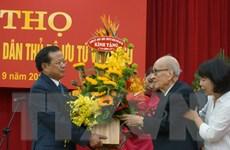Lãnh đạo thành phố Hà Nội chúc thọ giáo sư Vũ Khiêu 100 tuổi