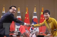 Hàn Quốc-Trung Quốc ký kết nhiều văn kiện hợp tác song phương
