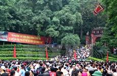 Phú Thọ: Lượng khách tới thăm Khu di tích Đền Hùng tăng cao