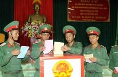 Đắk Lắk: Tất cả cử tri Trung đoàn Bộ binh 95 đi bầu cử sớm