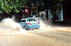 Mưa lớn sau bão số 2 làm ngập nhiều tuyến đường ở Hà Giang