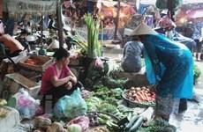 Giá rau xanh tại Hà Nội không dao dộng nhiều trong ngày mưa bão