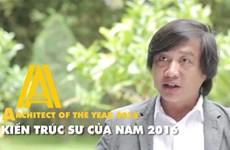 Nguyễn Hoàng Mạnh giành danh hiệu Kiến trúc sư của năm 2016