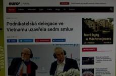 Tổng thống Milos Zeman mong muốn cân bằng thương mại Séc-Việt