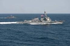 Tàu chiến Mỹ va chạm tàu vận tải Philippines ở ngoài khơi Nhật Bản