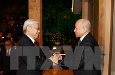 Truyền thông Campuchia đưa đậm nét chuyến thăm của Tổng Bí thư