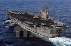Tàu sân bay Mỹ USS Ronald Reagan sắp cập cảng Hong Kong
