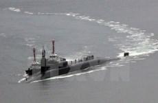 Tàu ngầm hạt nhân Mỹ USS Tucson cập cảng Jinhae của Hàn Quốc
