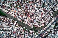 Ảnh đẹp trong tuần: Xóm nước đen ở TP Hồ Chí Minh nhìn từ trên cao