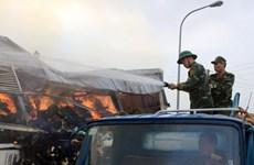 Cận cảnh nỗ lực chữa cháy nhà máy sản xuất sợi ở Quảng Ninh