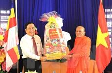 Chủ tịch MTTQ thăm, chúc Tết Chôl Chnăm Thmây của đồng bào Khmer