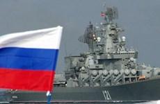 Bộ Quốc phòng Nga triển khai nhiều tàu chiến đến Địa Trung Hải