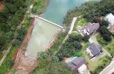 Chủ đầu tư tự tháo dỡ công trình trái phép tại hồ Tuyền Lâm