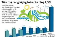 [Infographics] Tiêu thụ năng lượng toàn cầu tăng 2,3%