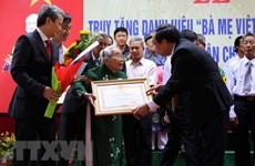 Thanh Hóa: Truy tặng danh hiệu Nhà nước Bà mẹ Việt Nam anh hùng