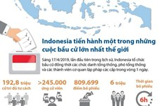 [Infographics] Indonesia tổ chức bầu cử lớn lần đầu tiên trong lịch sử