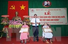 Trà Vinh: Phong tặng, truy tặng danh hiệu Bà mẹ Việt Nam Anh hùng