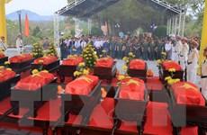 Truy điệu, an táng hài cốt liệt sỹ quân tình nguyện Việt Nam tại Lào
