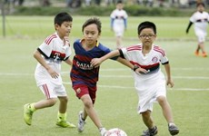 Đức Huy làm đại diện giải bóng đá quốc gia cho trẻ em khó khăn