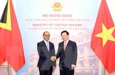 Việt Nam-Timor Leste nhất trí thúc đẩy hợp tác trên nhiều lĩnh vực